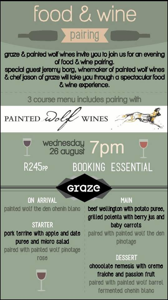 food and wine pairing at graze