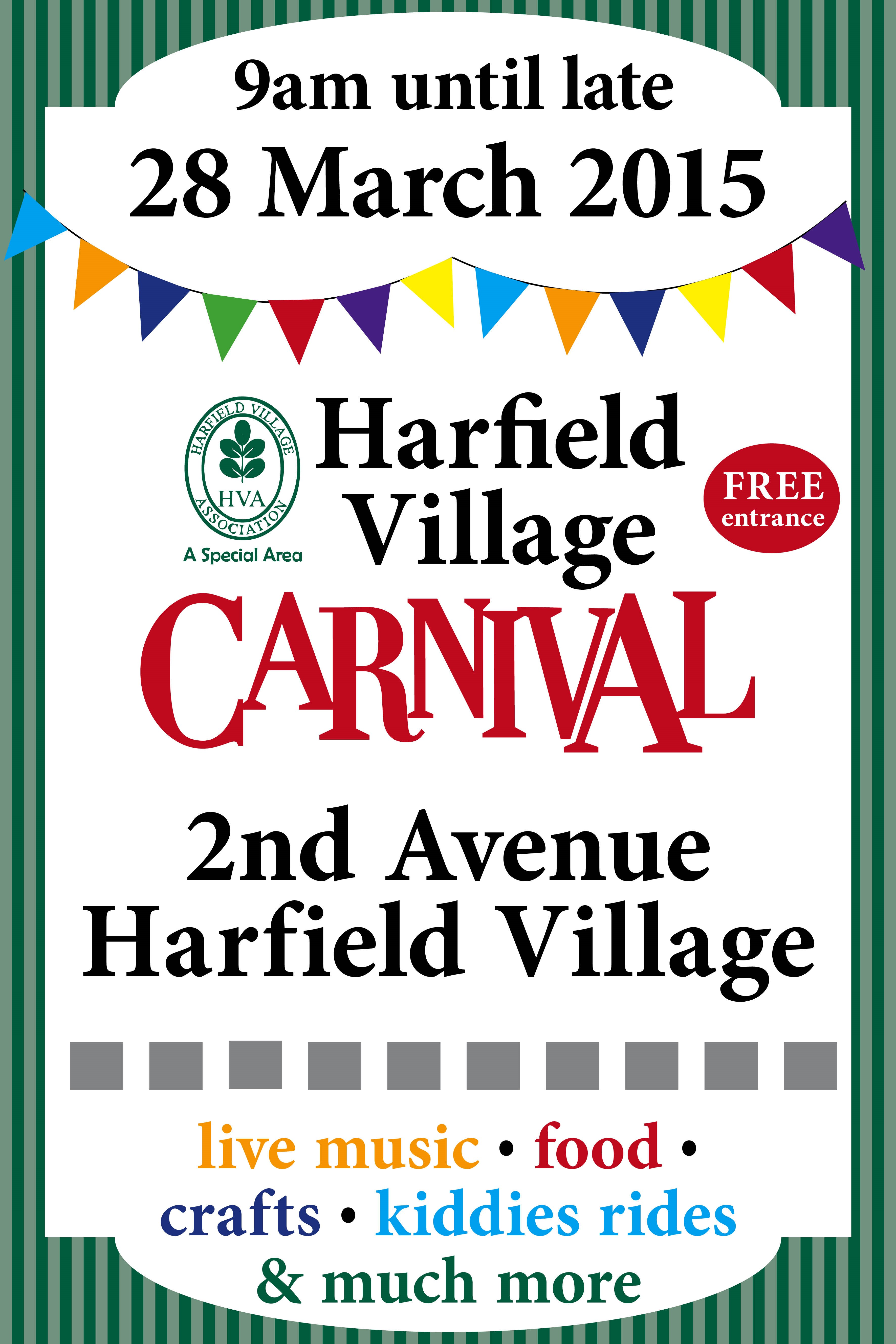 Harfield Village Poster 2015